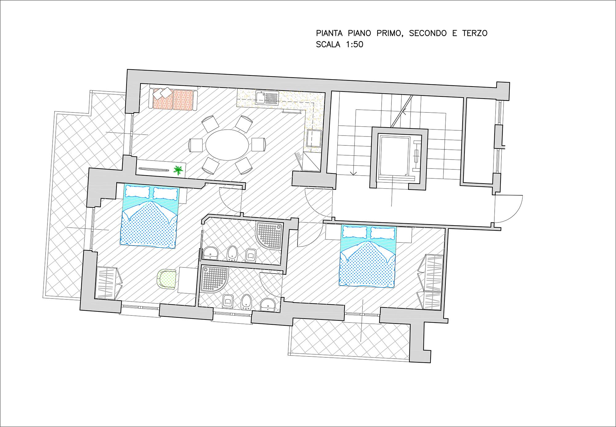 Trilocale con balcone residenza alba - Asciugatrice in balcone ...
